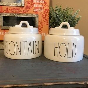 Rae Dunn Hold and Contain Canisters